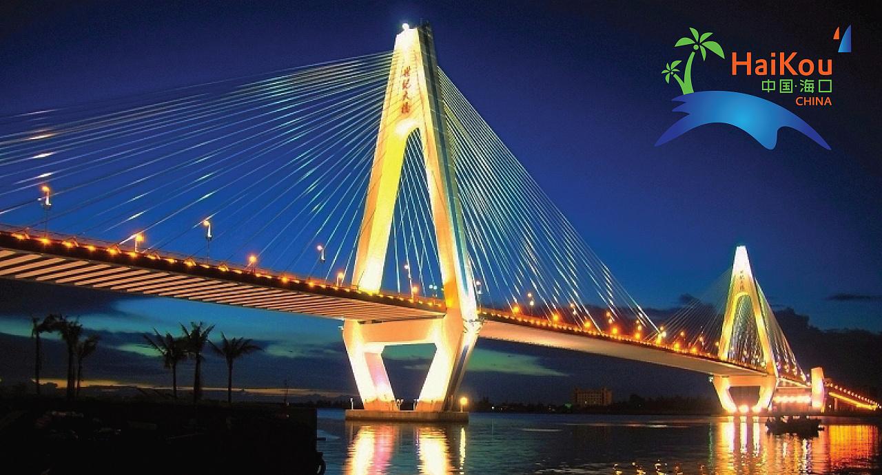 大桥城市手绘图