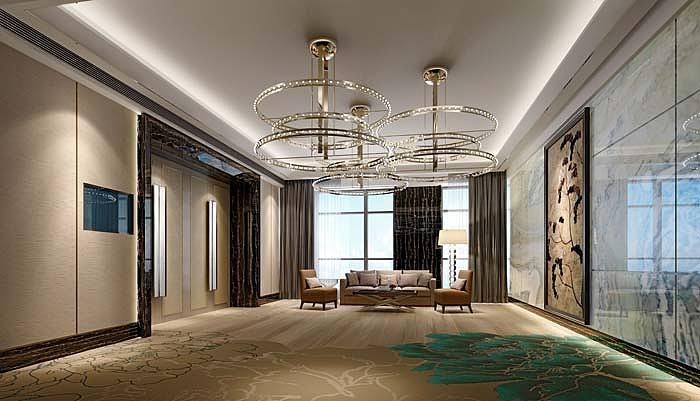 广汉广汉平安国际商务酒店装修设计案例|德阳德阳酒店国内知名园林景观设计师图片