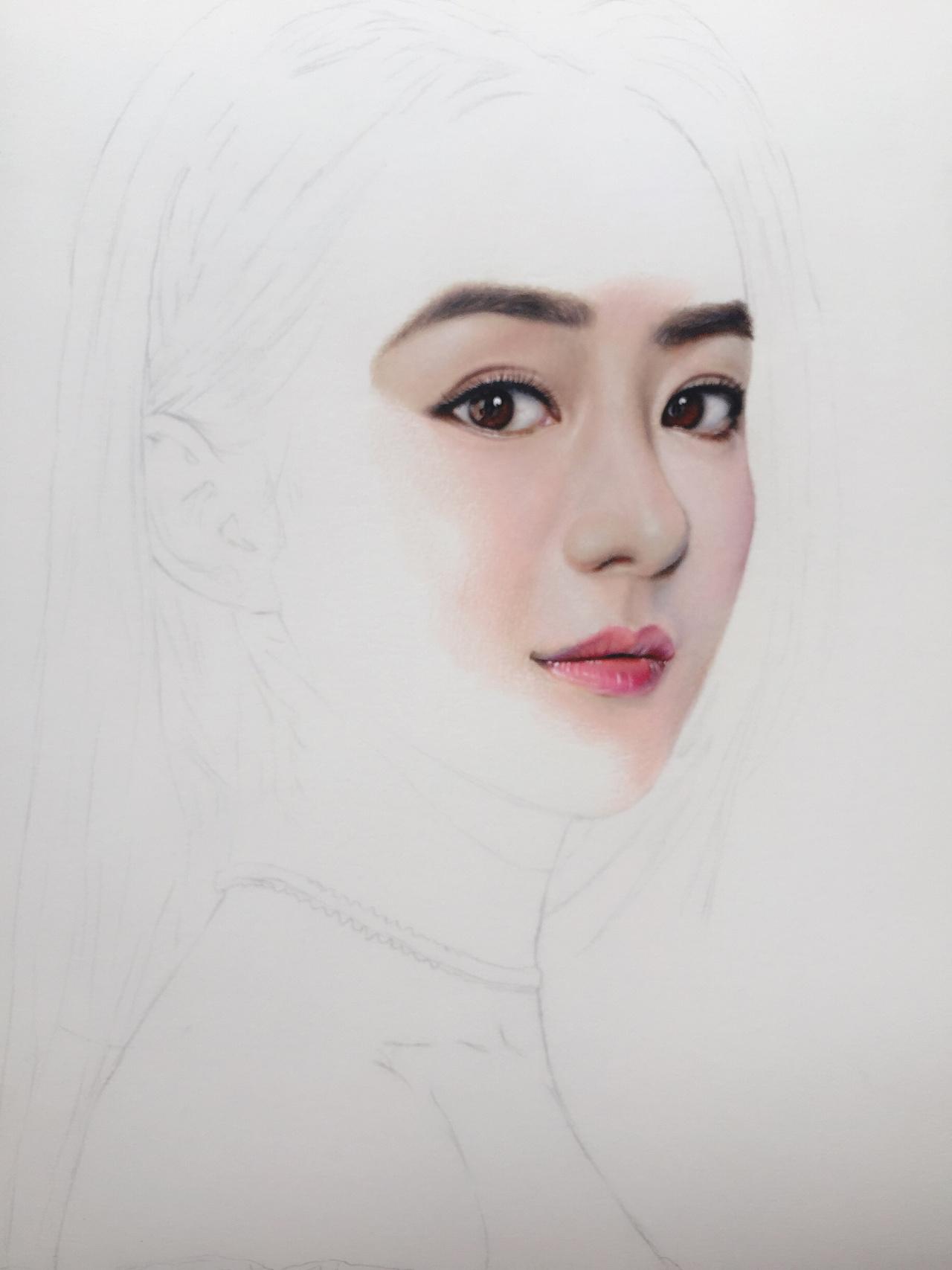 赵丽颖|纯艺术|彩铅|晨曦手绘 - 原创作品 - 站酷