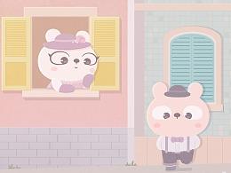 冷兔baby —— 糖果色的世界
