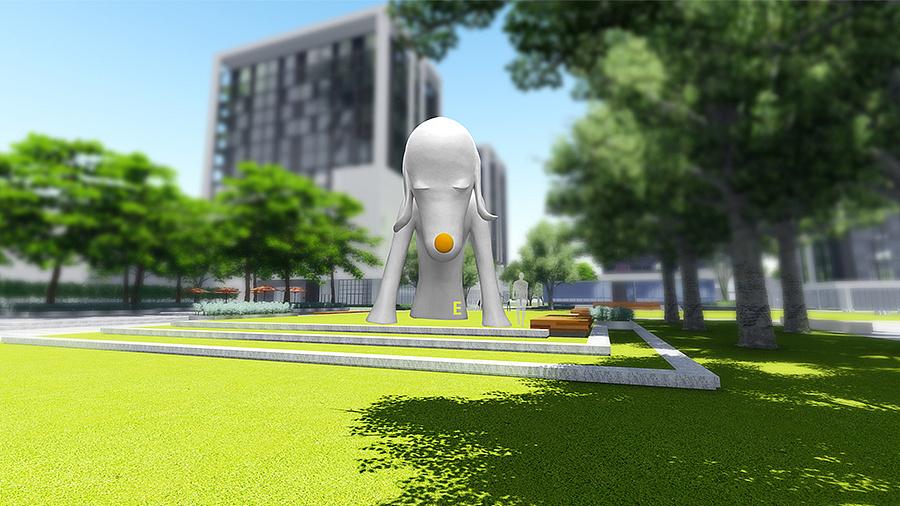 雕塑景观平面设计和ui的区别6图片