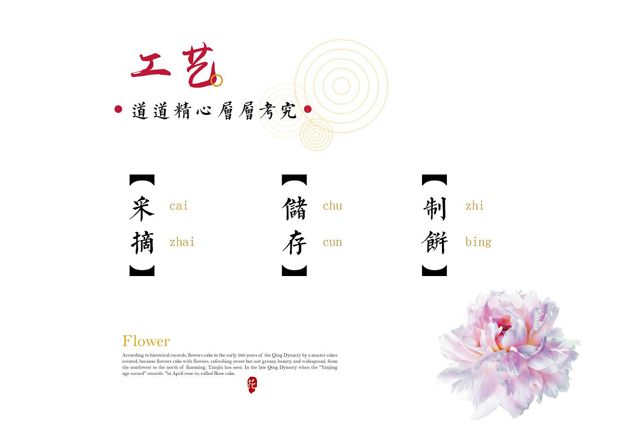"""""""锦上添花""""手绘鲜花饼包装设计"""