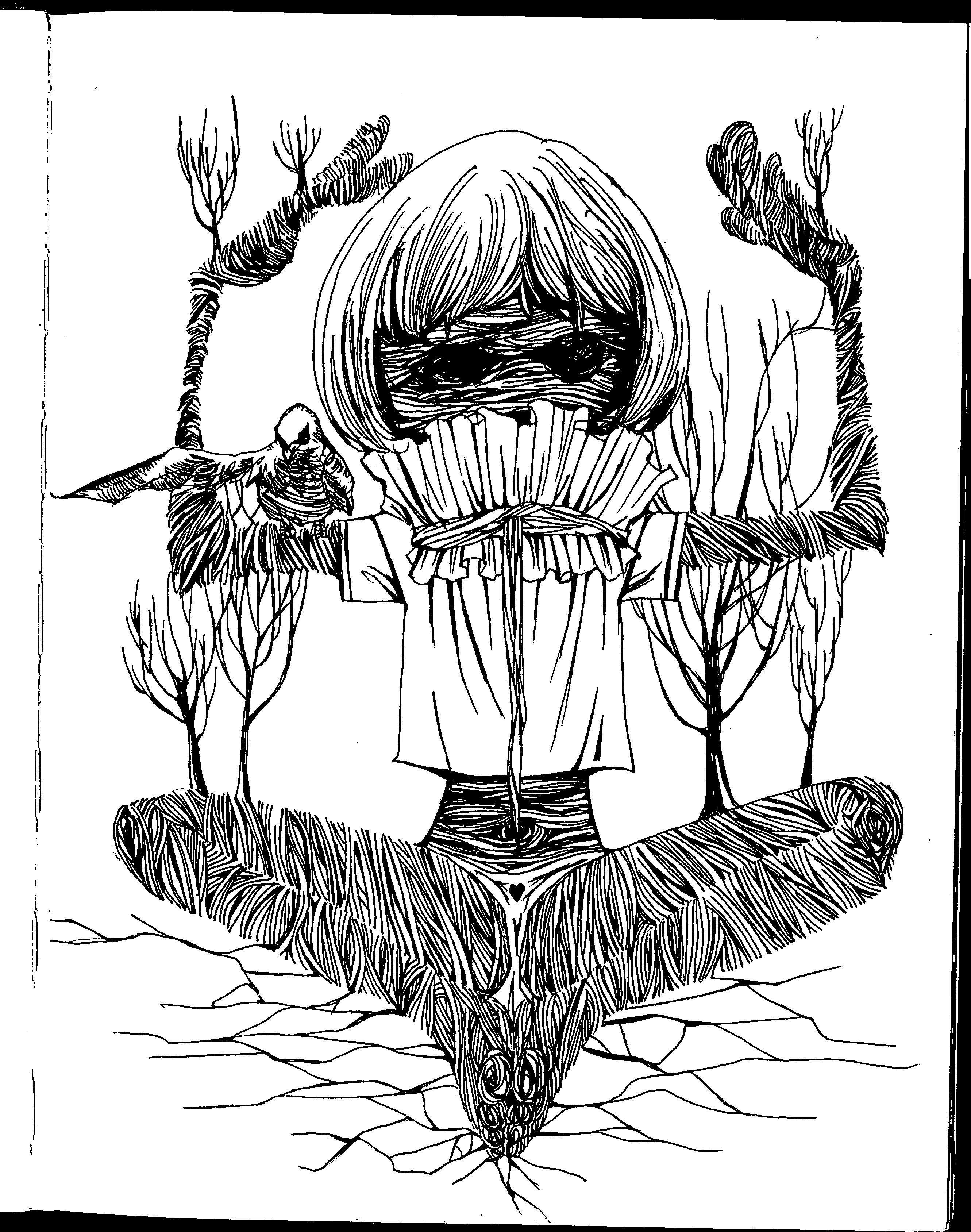 黑白手绘|插画|商业插画|记号笔 - 原创作品 - 站酷