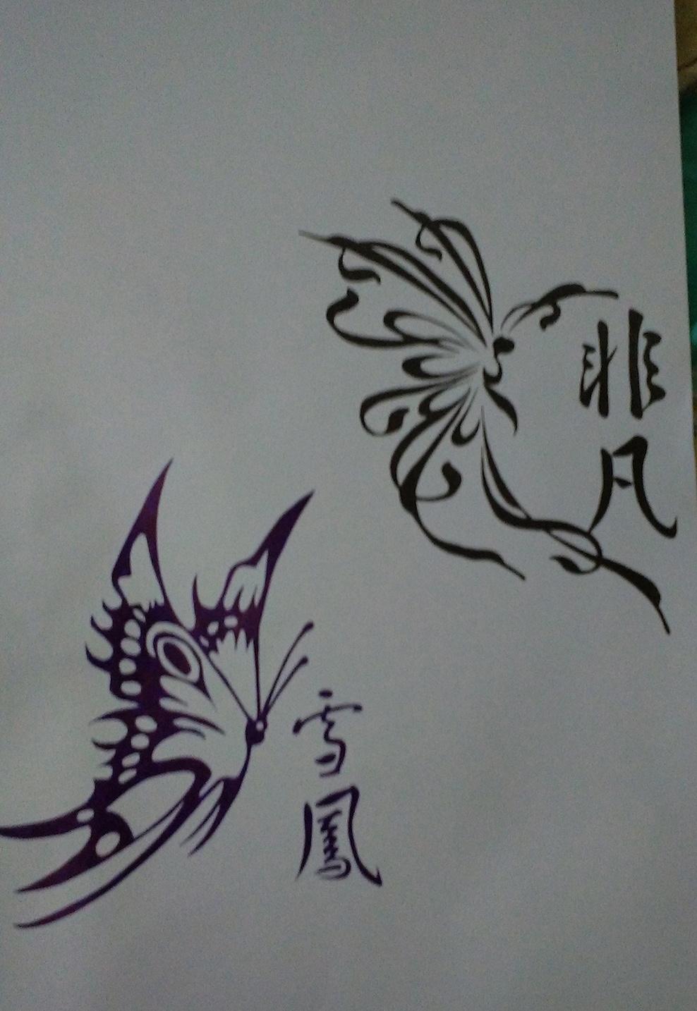 手绘-黑白画 插画