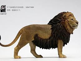 阳光明媚  狮王站在高处眺望国土