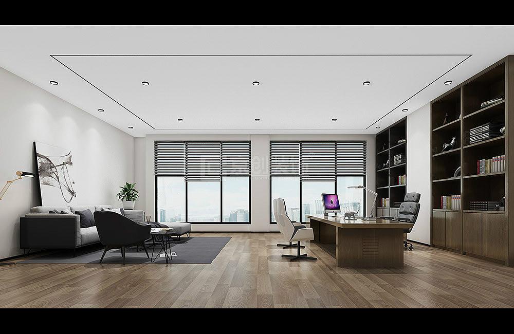郑州办公室装修效果图,金融办公室设计案例-京创装饰
