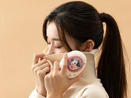 品牌素材丨黄油猫暖手宝 充电宝模特图