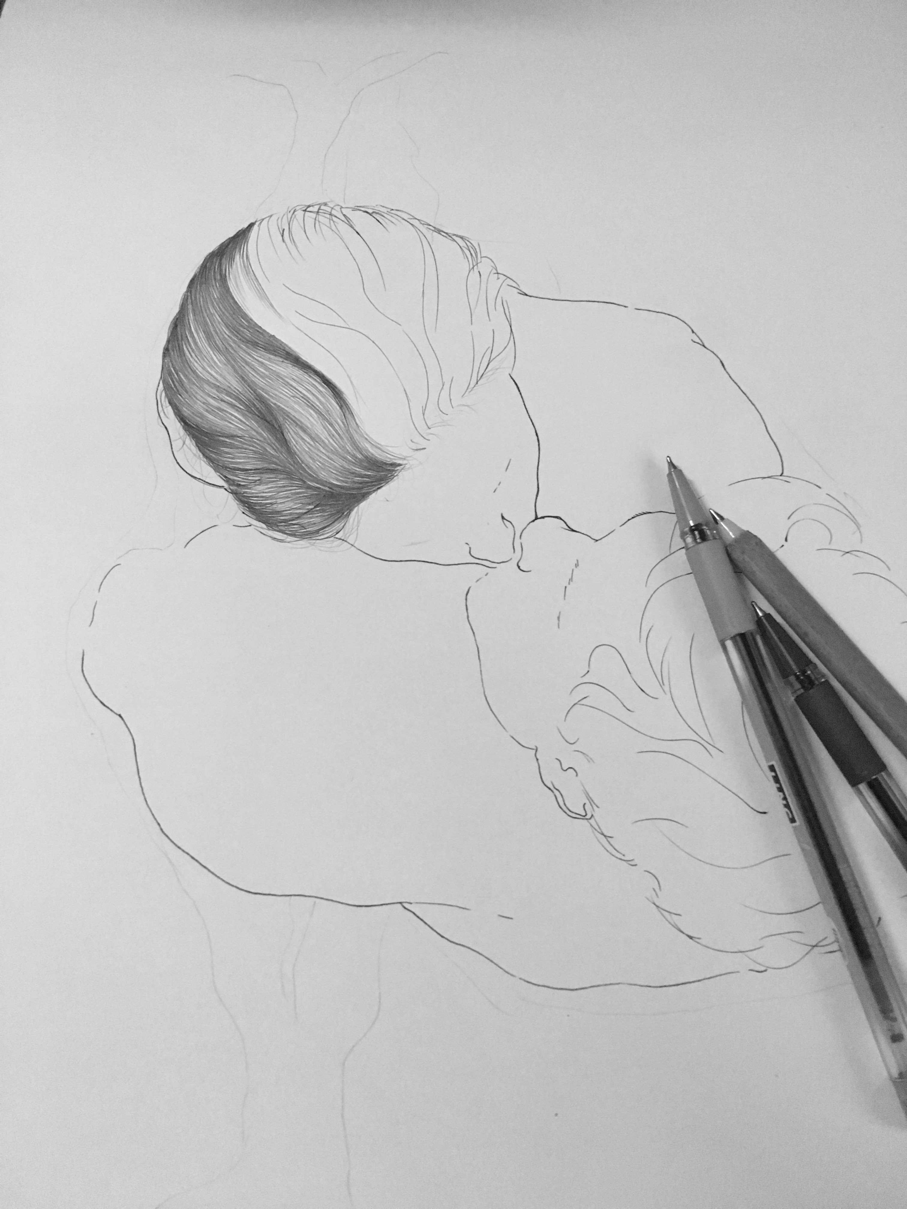 简笔画 手绘 素描 线稿 3024_4032 竖版 竖屏