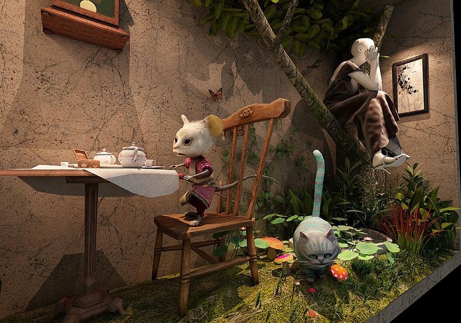 给你一个童话般的橱窗|展示/橱窗/店面设计|空间