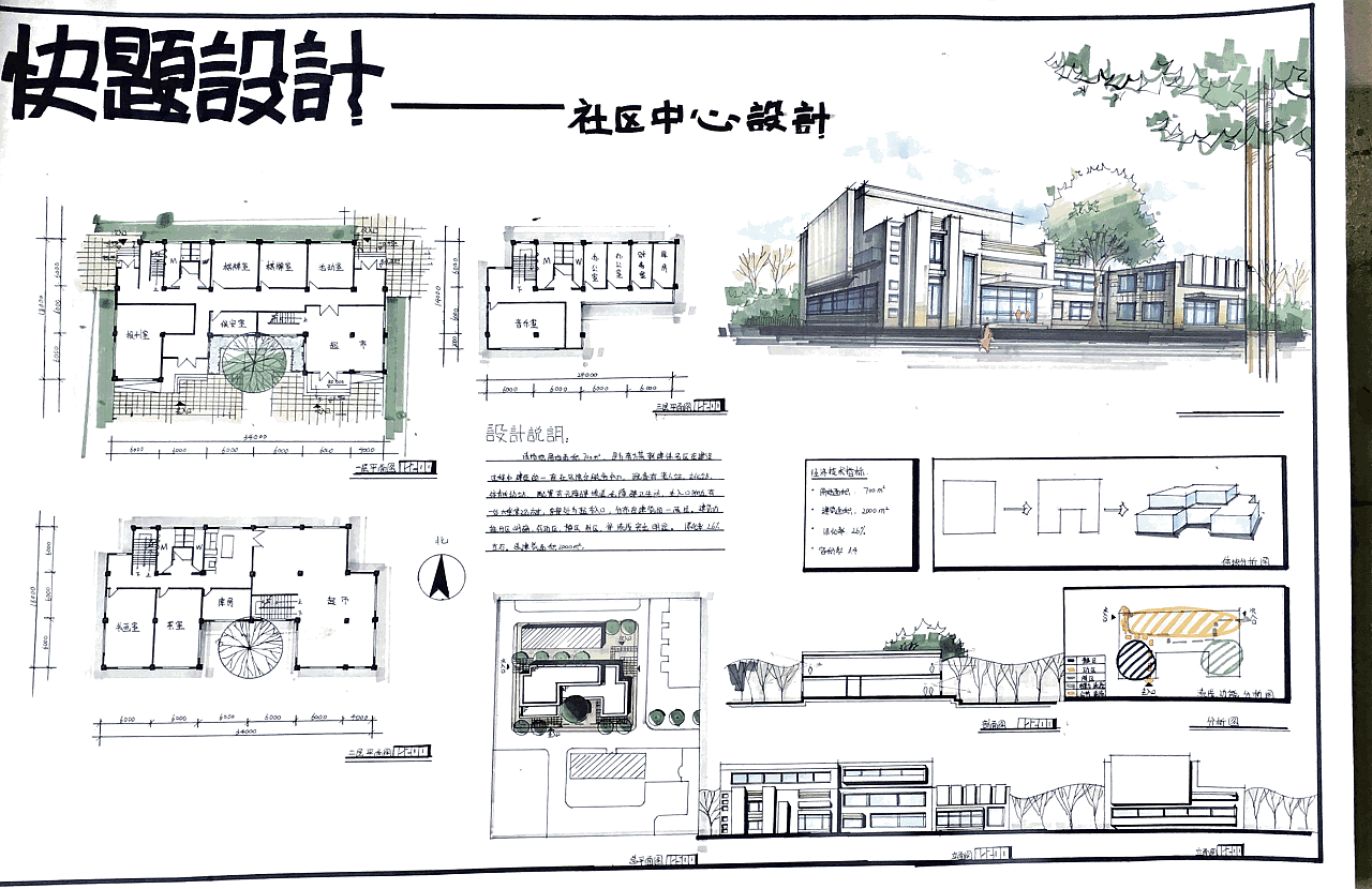 建筑快题和产品手绘|空间|建筑设计|adore0723 - 原创