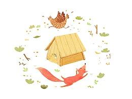 小狐狸追鸡