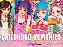 BLACKDOGGY《童年回忆Childhood memories》系列插画