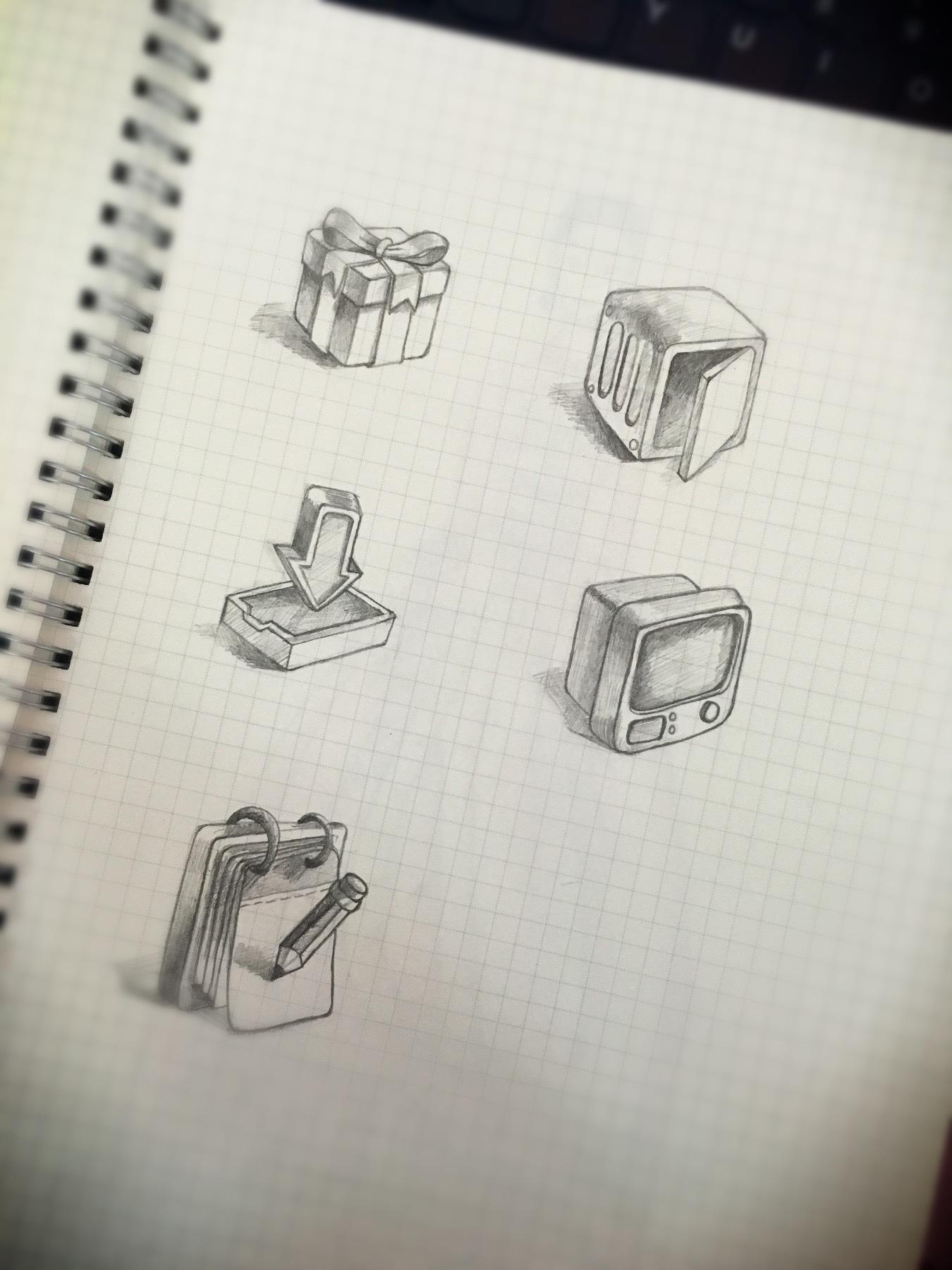手绘图标|纯艺术|素描|烙印狠别致 - 原创作品 - 站酷