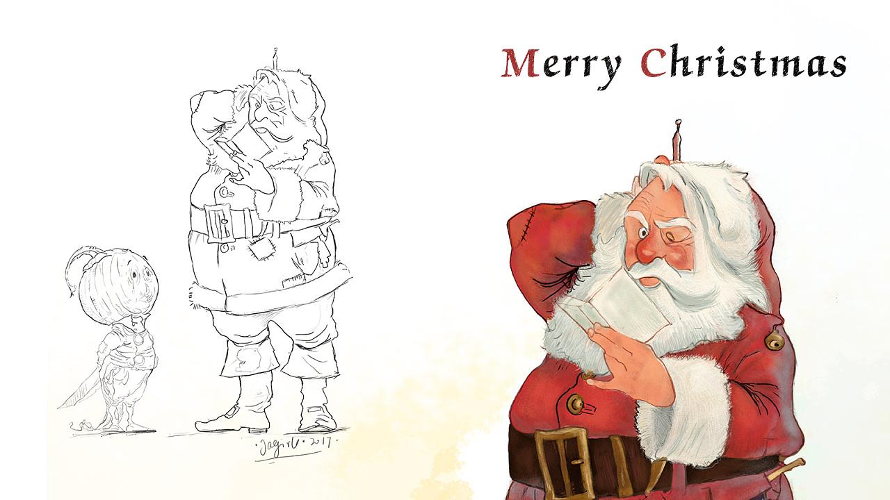 手绘练习-圣诞节