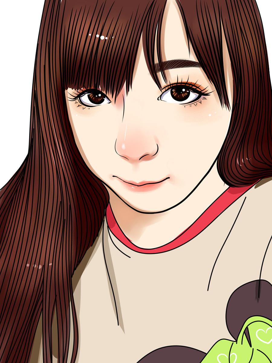 帅哥美女插画头像订制小清新动漫人物彩色写实风格
