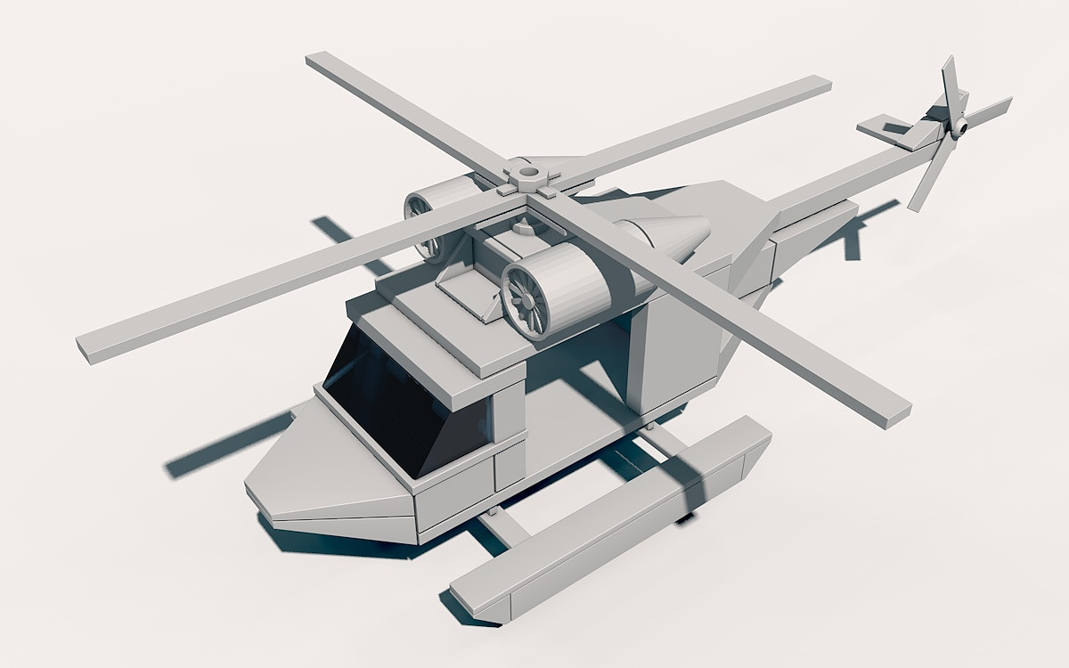 7.12 c4d 直升飞机|三维|其他三维