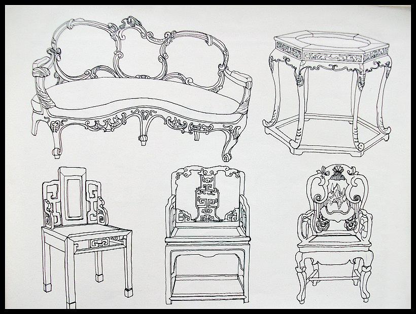家具的简笔画图片大全
