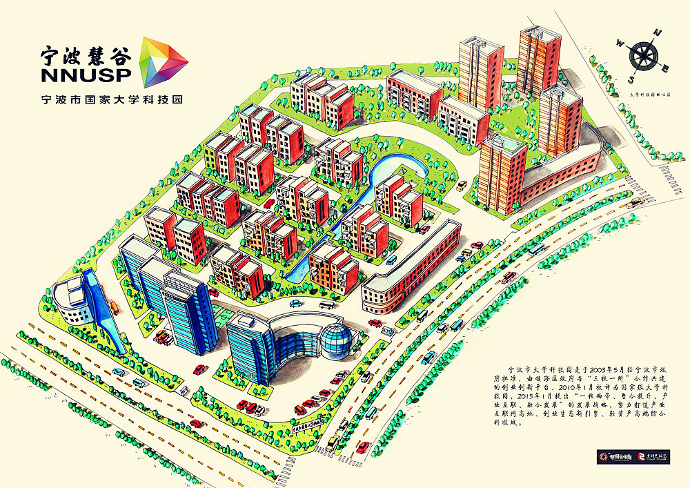 宁波慧谷——手绘地图