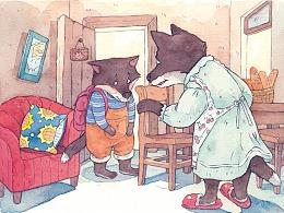 儿童绘本《狼弟弟与图书馆》