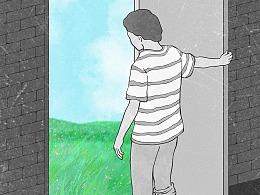每日一画 Day851~857 推开世界的门