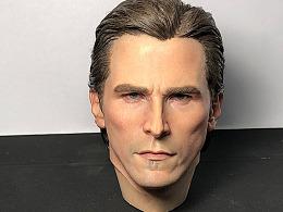 Queen Studios 1:3 贝尔蝙蝠侠最新的植发头雕