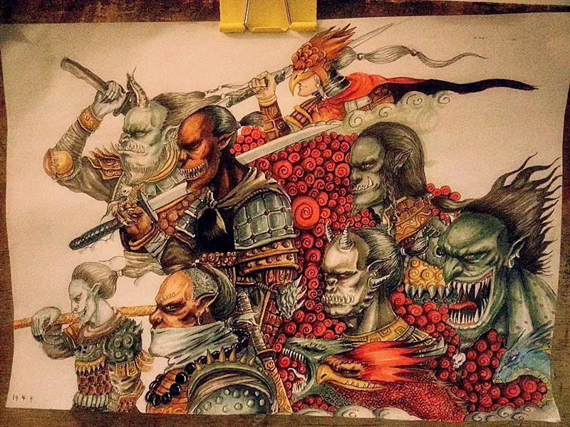 印度纹身手绘鬼神