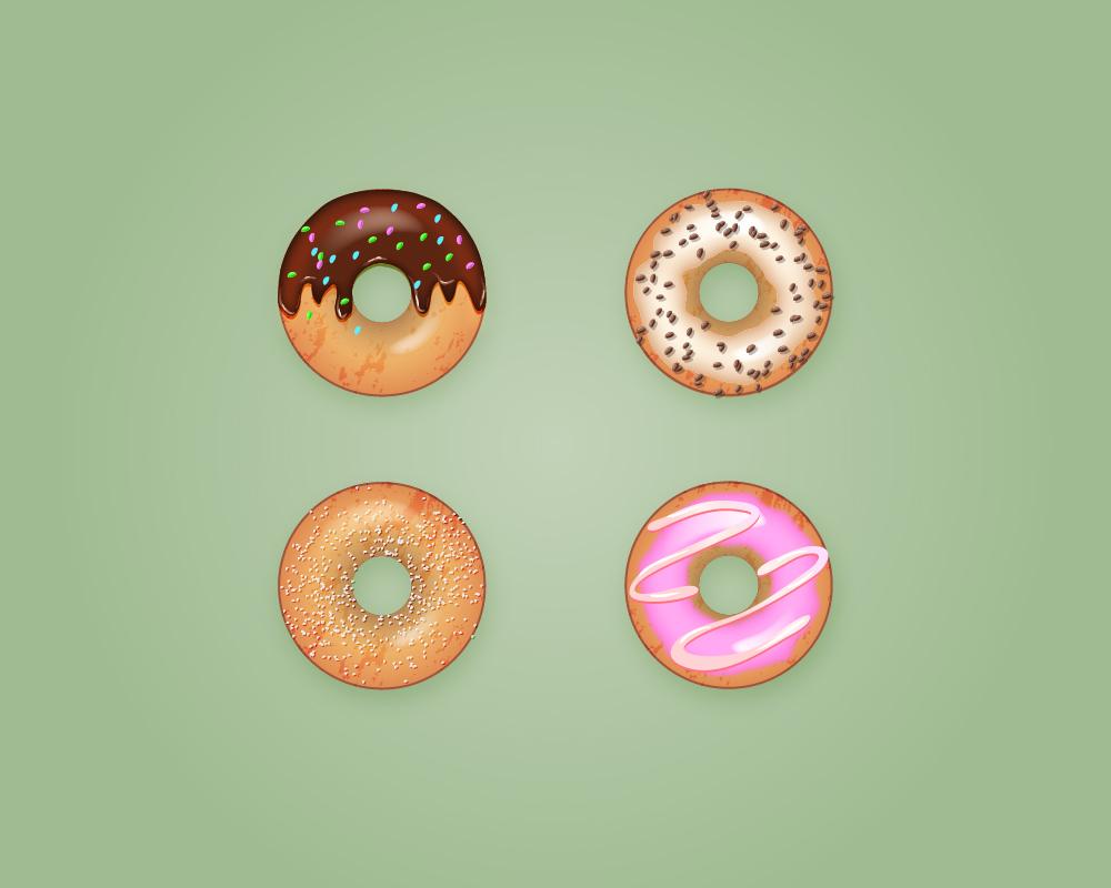甜甜圈临摹练习|插画|插画习作|yuzhumingcha - 原创图片