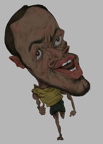 博尔特绘画步骤|肖像漫画|动漫|lwly22