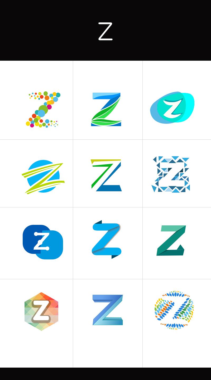 以z字为主的logo设计图片