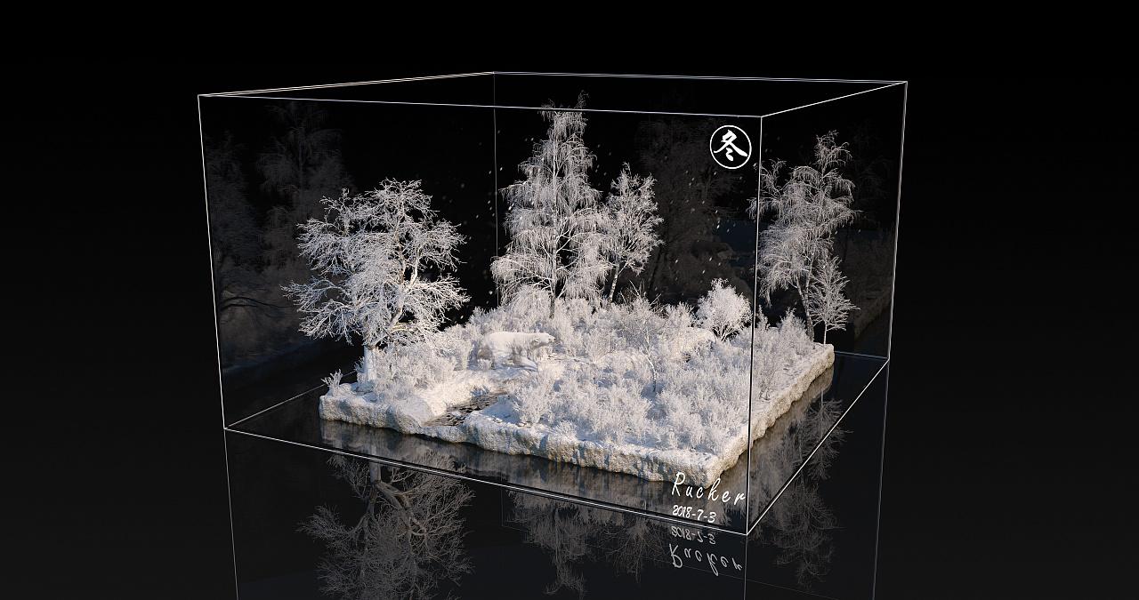 C4D 写实森林OC渲染