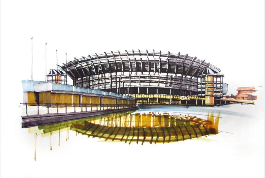 建筑手绘|三维|建筑/空间|zhongyezhou - 原创作品