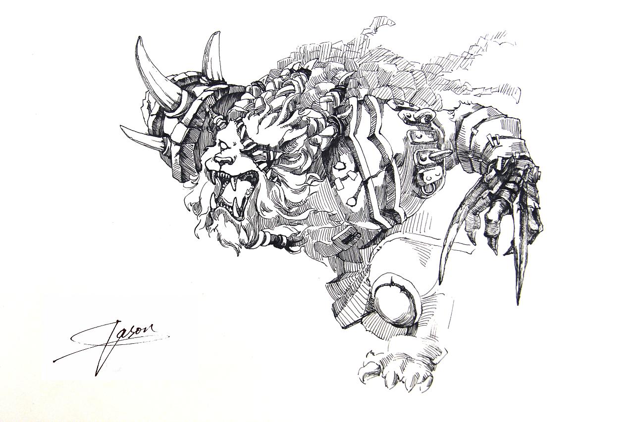 英雄联盟钢笔画系列