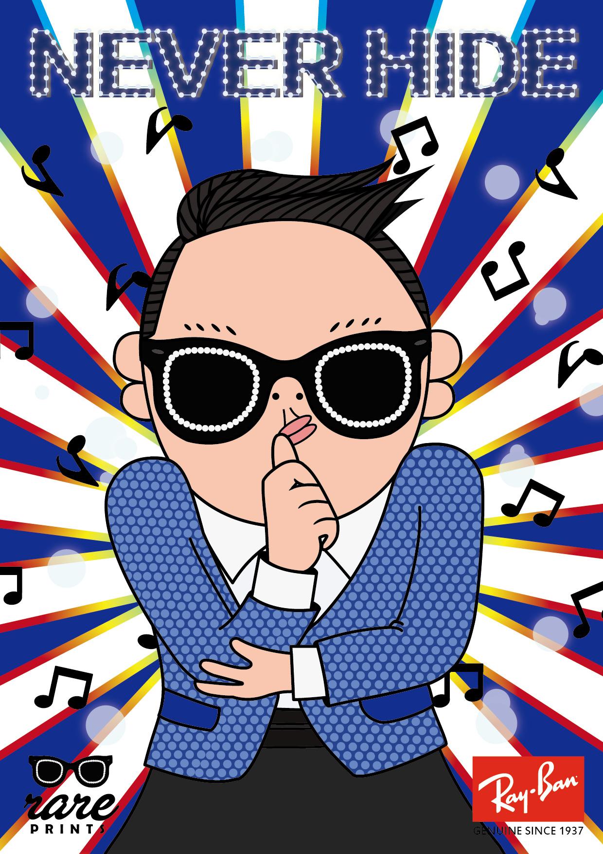 雷朋眼镜主题海报虚拟构想|插画|商业插画|陈小熊猫