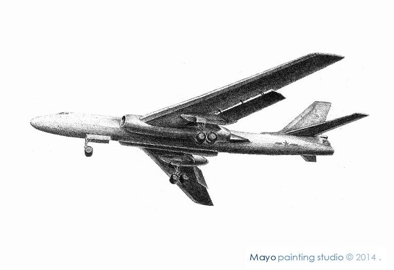 手绘中航飞机系列|钢笔画|纯艺术|慢游