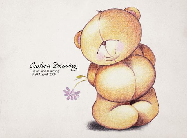可爱熊手绘图