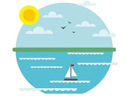 向莉——海滨插画