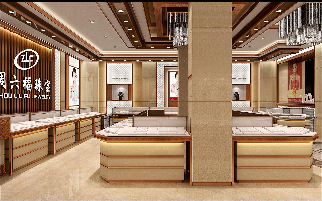 《周六福珠宝店》-成都珠宝店装修公司丨成都珠宝店设计公司图片