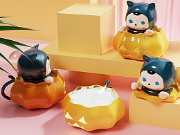 毕奇PUCKY✖POP MART 衍生香薰系列产品设计
