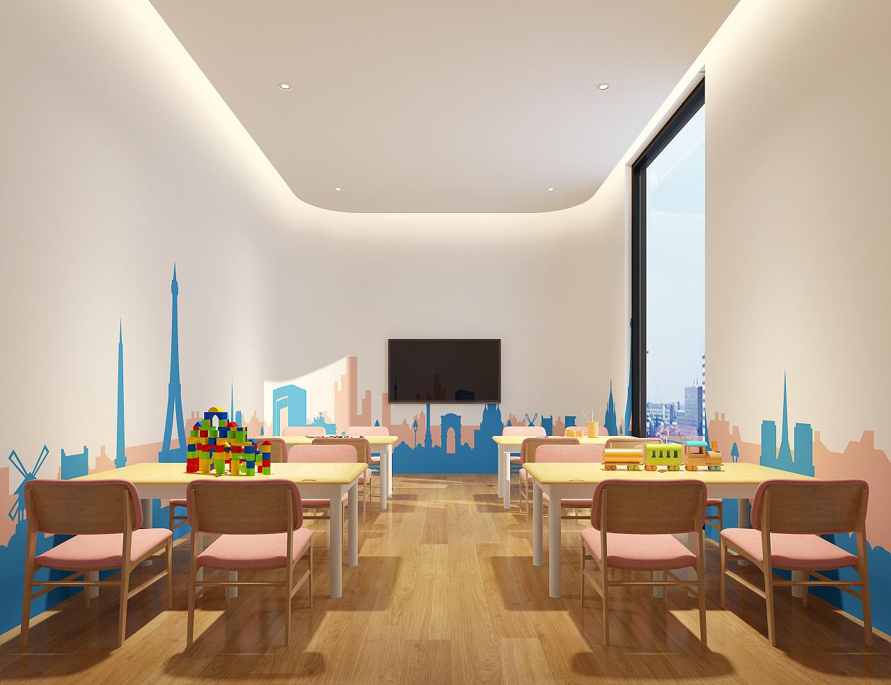 幼儿园教室_室内空间设计装修设计公司孝感图片