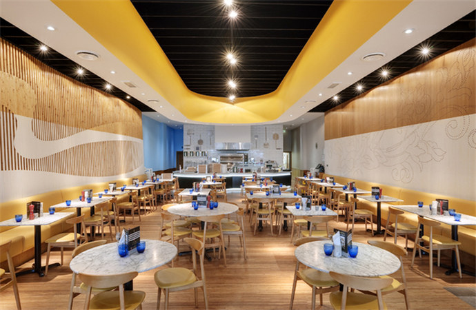 现代风格茶餐厅——石嘴山餐厅装修|石嘴山餐厅设计