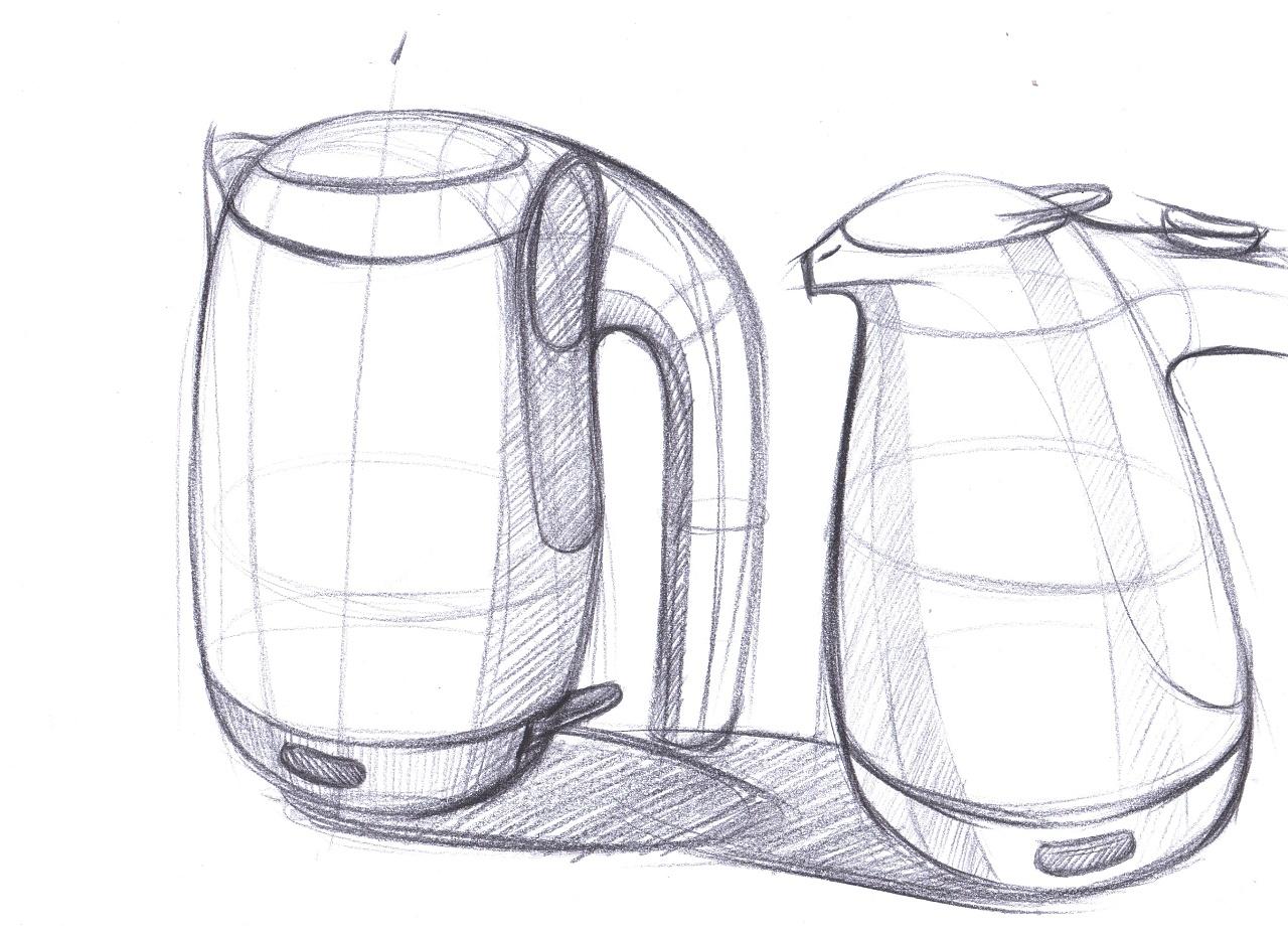 杯子三视图手绘