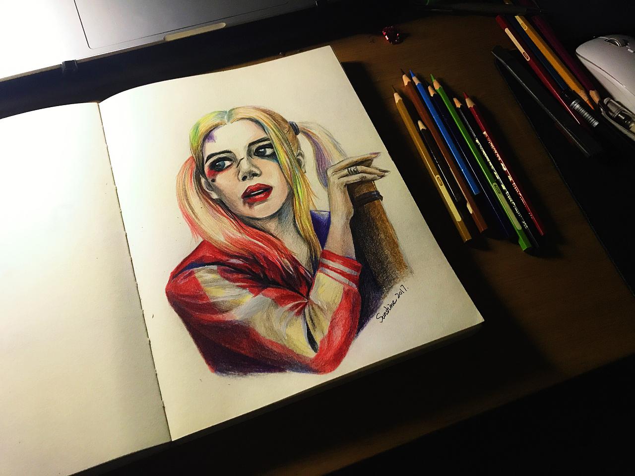 手绘—小丑女