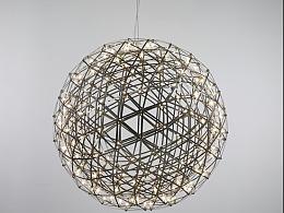 铭星灯光工厂定制出口简约欧美风珍珠黑LED中庭吊灯
