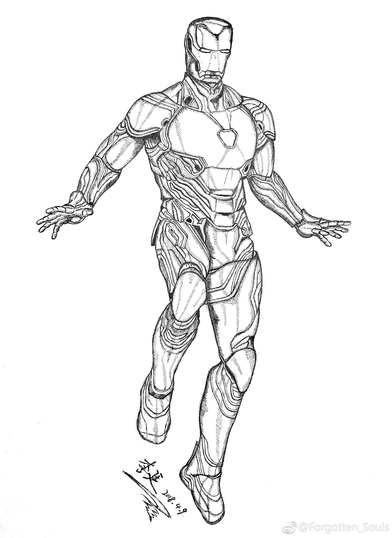 绘画作品——钢铁侠