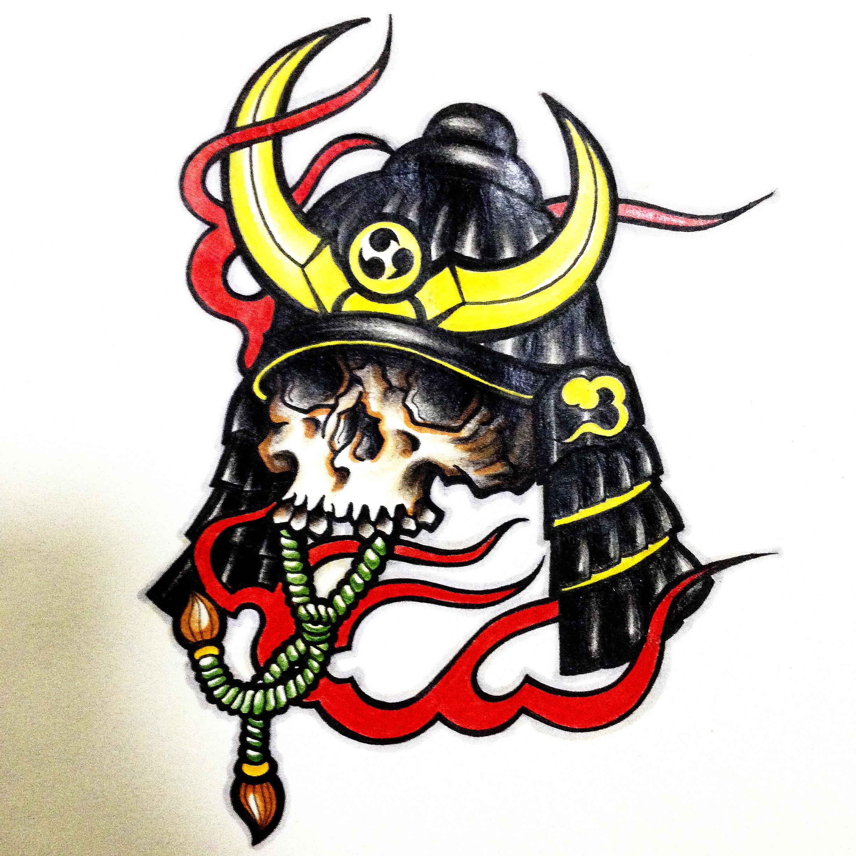 手绘涂鸦插画稿 骷髅武士