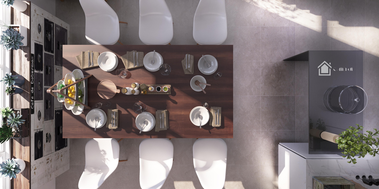 北欧风格餐厅厨房