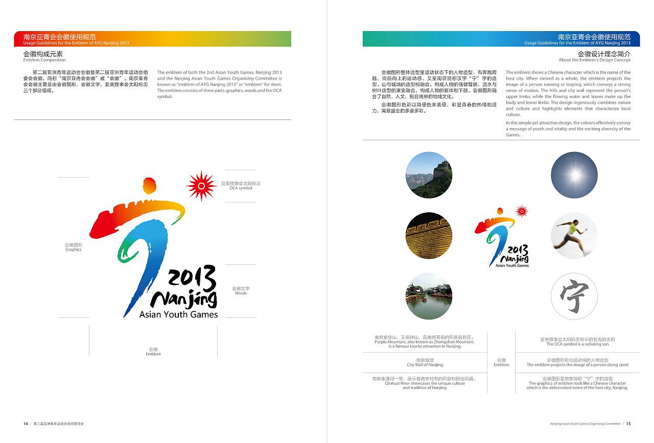 2013南京亚洲青年运动会会徽及vi设计图片