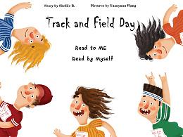 插画,英文绘本<Track and Field Day> 田径运动会啦~