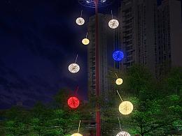 户外大型灯光装置定制工厂铭星厂家专业室外街道亮化