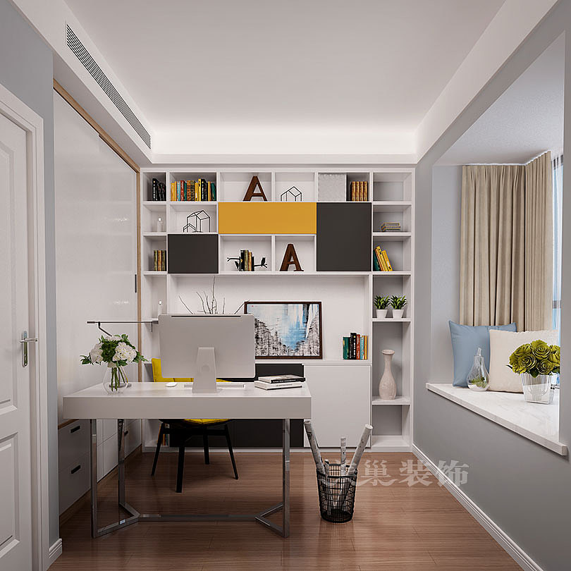 保利海上五月花三室两厅88平现代简约风格装修效果图